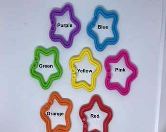 Silicone STAR LINK singles // Toy Link // Hanging Toy Clip // Toy Making // DIY // Baby Chew // Sewing // Baby Toy // SIlicone