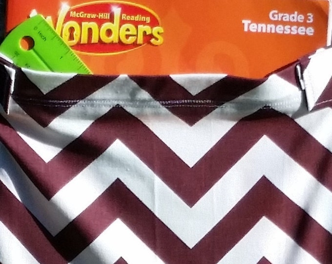 14 inch // Burgundy Chevron // Value // Chair Pockets // Seat Sacks  //  CLOSEOUT