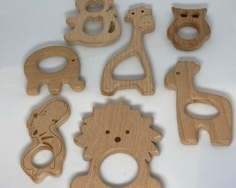 AFRICAN SAFARI Beech Wood Shape Sampler // Wooden Shapes // eLePhAnT GiRaFFe LiOn ZeBrA BaBy GiRaFFe MoNkEy OwL