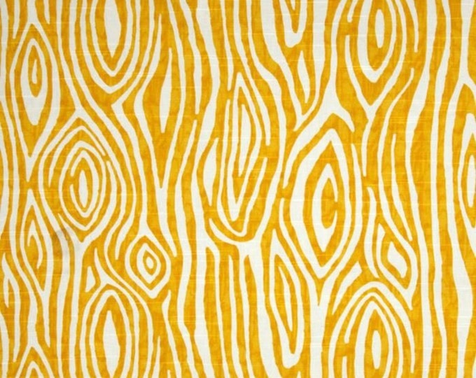Yellow WILLOW Duck Cloth //  Premier Prints Inc // Upholstery Sewing Fabric // Tree Rings