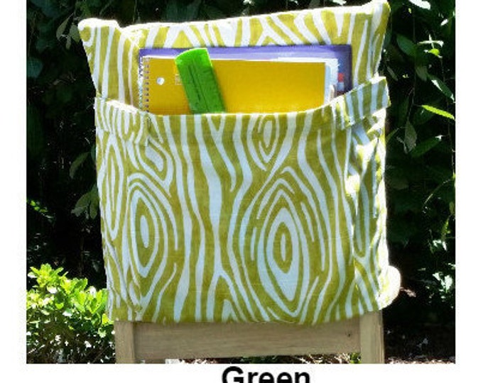 14 inch // Green WIllow DELUXE // Chair Pocket // Teacher Classroom // Seat Sack // CLOSEOUT