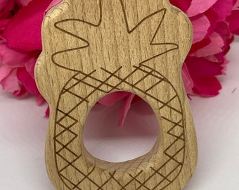 PINEAPPLE tropical fruit Wood Shape / Wood Animal Shapes / Wooden Teether // Wooden Animal Toys // Wood Baby Shapes // Eco Friendly