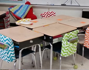 Chair Pocket Singles // Chair Pockets // Seat Sacks // Teacher Classroom Management // You Choose Quantity & Style  //  Duck Cloth