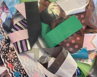 Huge MULTI COLOR Ribbon Lot for Crafts Toys Hobbies Sewing Hair Bows // 5 lb box