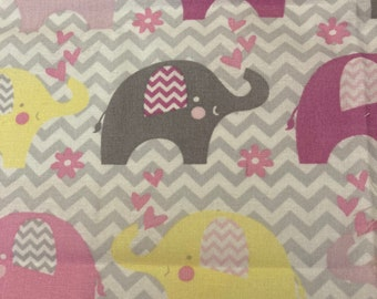 Taggie Blanket Kit // Lovey Tag Blanket // Minky Cuddle Toy // Security Blanket // Handmade // Baby For Baby // Chevron Elephant