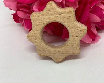 SUN celestial sky Wood Shape / Wood Animal Shapes / Wooden Teether // Wooden Animal Toys // Wood Baby