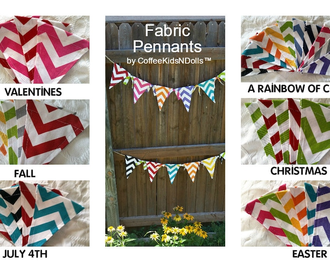 Fabric Pennant Banner  // Teacher Classroom // Home Decor // Birthday Party  // Dorm Room // Christmas Decorating // Seasonal // Closeout