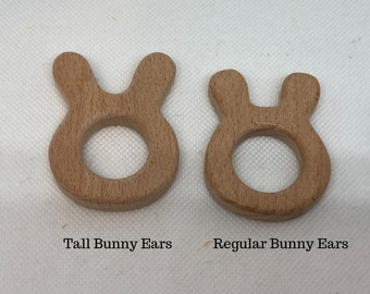 bunny RABBIT EARS <28> Easter Spring Wood Shape / Wood Animal Shapes / Wooden Teether // Wood Baby Shapes // Eco Friendly