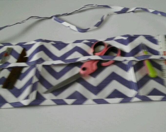 Utility Apron // PuRpLe ChEvRoN // Teacher Apron // Clear Pocket Apron // Craft Apron //Teacher Gift // Gift Idea / Under 20 / Gift idea