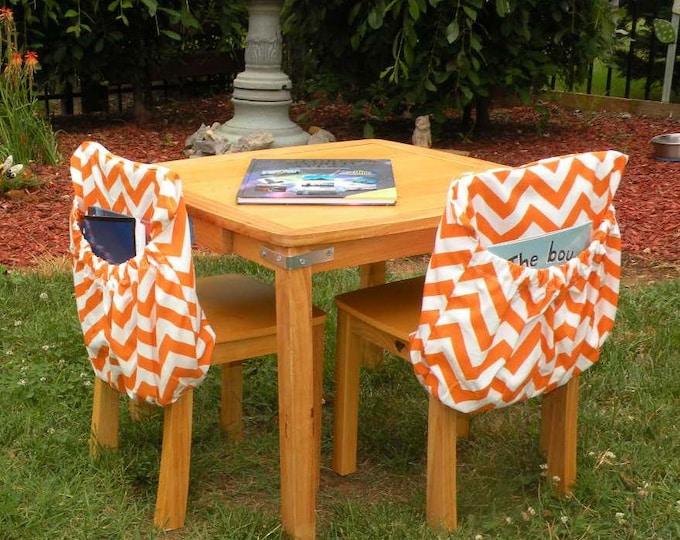 ReAdY 2 SHiP Chair Pockets // 14 Inch PINK Chevron // Teacher Classroom Organization // Seat Sacks // Kindergarten 1st grade 2nd grade