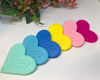 XL Silicone Corner Teether // Silicone Heart Corner // Baby Teething // Toy Making // Handmade Sew On  // BPA Free // Food Grade Silicone