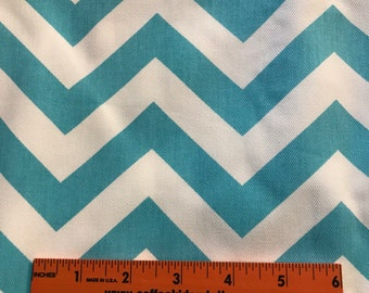 Premier Prints Inc // Girly Blue ZigZag // Twill Cotton Fabric // 5 Yards Uncut