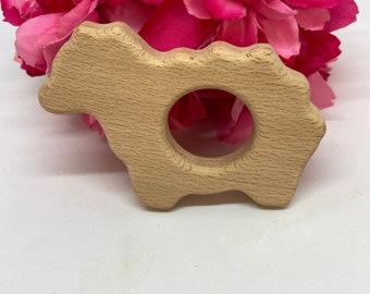 SHEEP <26> farm animal Wood Shape / Wood Animal Shapes / Wooden Teether // Wooden Animal Toys // Wood Baby Shapes // Eco Friendly