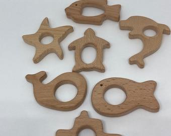 Beach NAUTICAL Ocean Beech Wood Shape Sampler // Wooden Shapes // DoLpHiN StArFiSh BoaT Sea TuRtLe wHaLe FiSh V1 V2 // Stocking Stuffer