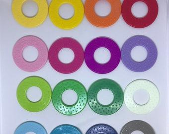 Classic ROUND Ring SaMpLeR // Sew In Baby Toys // Baby Rings //  Teething Toy // Baby Teething // Handmade Baby