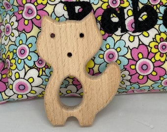 FOX <13> forest animal Wood Shape // Wood Animal Shapes // Wooden Teether // Wooden Animal Toys // Wood Baby Shapes // Eco Friendly