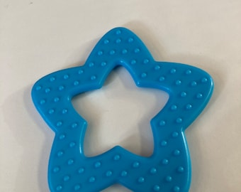 Turquoise //  25 pieces STAR Ring Wholesale Lot   // Star Shaped Baby Toys // Baby Teething // Teething Toys