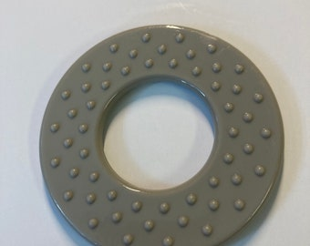 GRAY Classic ROUND Rings // 25 Piece Wholesale Lot // Sew In Baby Toys // Baby Teething Rings //DIY Sewing