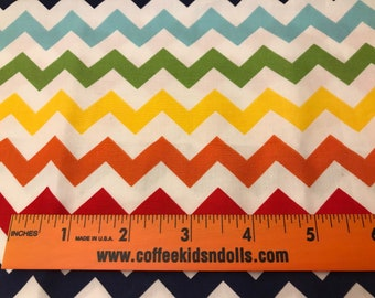 DIY Sewing Kit  4 Baby // Baby Blanket Kit w/ Basic Instructions to Design Your Own Baby Gift // BRIGHT CHEVRON <<21>>