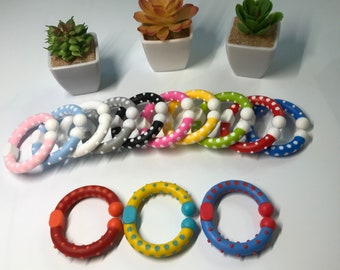 Baby Toy LINK SaMpLeR  // Teething Toy Connectors // Stroller Toy // Open Loop Teether // Baby Teething Toy // Diaper Bag