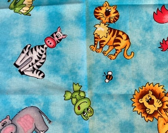 DIY Sewing Kit  4 Baby // Baby Blanket Kit w/ Basic Instructions to Design Your Own Baby Gift // No Toys // Animal Toss ((53))