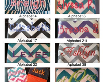 EmBrOiDeReD Chair Pockets // You Choose The Style //  School Supplies // Chair Storage / Elementary School / Seat Sacks // Expandable Pocket