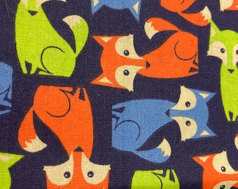 DIY Blanket Kit // Lovey Tag Blanket // Minky Cuddle Toy // Security Blanket // Handmade // For Baby // No Toys //Navy  Fox ((42))