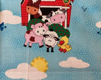 DIY Sewing Kit  4 Baby // Baby Blanket Kit w/ Basic Instructions to Design Your Own Baby Gift // No Toys // Barnyard ((39))