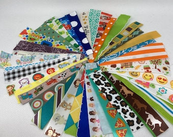 80 Piece RIBBON LOT for Baby Toys and Blankets // MuLtIpLe SiZe AsSoRtMeNt // Ribbon Scraps // Ribbon DIY Sewing // Handmade Baby