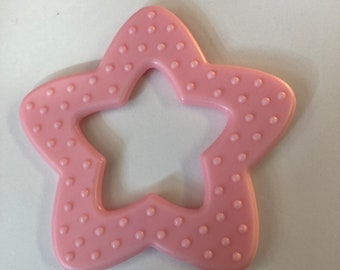 Light Pink //  25 pieces STAR Ring Wholesale Lot   // Star Shaped Baby Toys // Baby Teething // Teething Toys