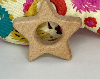 STAR <10> sky celestial Wood Shape / Wood Animal Shapes / Wooden Teether // Wooden Animal Toys // Wood Baby Shapes // Eco Friendly