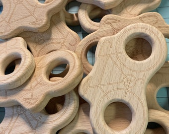 beech wood BICYCLE //Wholesale lot of 20 pieces // ride Wooden Shapes // Eco Friendly // Bacteria Resistant