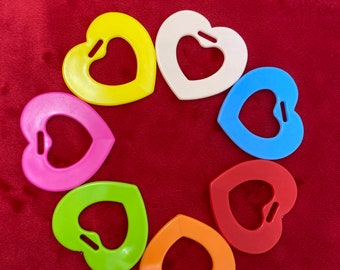 Heart Shaped Rings  // Sensory Baby Teething Ring SaMpLeR // Heart Shaped Toys // Baby Teething // Sew In Baby Toys