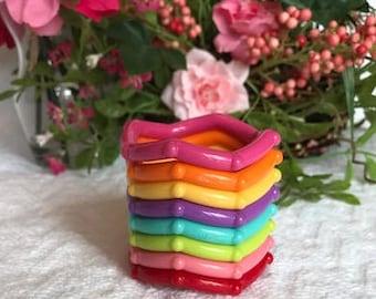 Hard Plastic KNOBBY Ring SaMpLeR // Clink Rings // Hard Plastic Rings // Baby Teething Toys