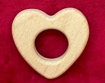 beech wood HEART <69> Wood Shape for baby teething