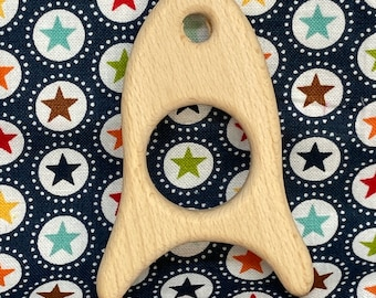ROCKET SHIP <19> space ship Wood Shape / Wood Animal Shapes / Wooden Teether // Wooden Animal Toys // Wood Baby Shapes // Eco Friendly