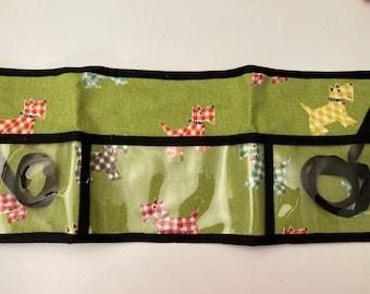 Utility Apron // Scotty Dogs w/ Black // Teacher Apron // Clear Pocket Apron // Craft Apron //Teacher Gift // Gift Idea // Under 25