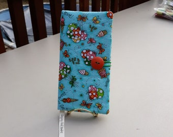 Fabric Covered Pocket Calendar // Refillable 2021 2022 / Planner Organizer For Her Under 10 Handmade Gift Idea for Purse Desk / Balloons