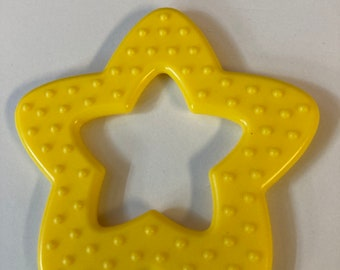 Yellow //  25 pieces STAR Ring Wholesale Lot   // Star Shaped Baby Toys // Baby Teething // Teething Toys