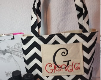 ON DUTY Tote Bag // Nurse Bag // Teacher Tote Bag // You Choose the Color // Embroidered and Monogram Tote // Bag With Pockets
