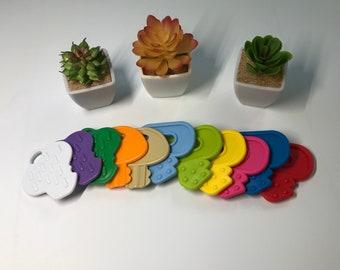 Plastic Baby KEY SaMpLeR // Baby Key Toy // Birthday Party Favor //  Sensory Baby Toys // Teething Toy