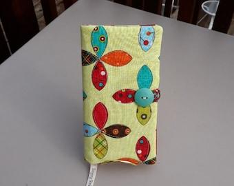 Fabric Covered Pocket Calendar // Refillable 2021 2022  Planner Organizer For Her Under 10 Handmade Gift Idea for Purse Desk / Whirlygigs