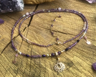 Crystal Bohemian Belly Pink ONE 14k Gold Filled Waist Beads Butterfly Body Jewelry Boho Strand Belly Chain Feminine Metaphysical