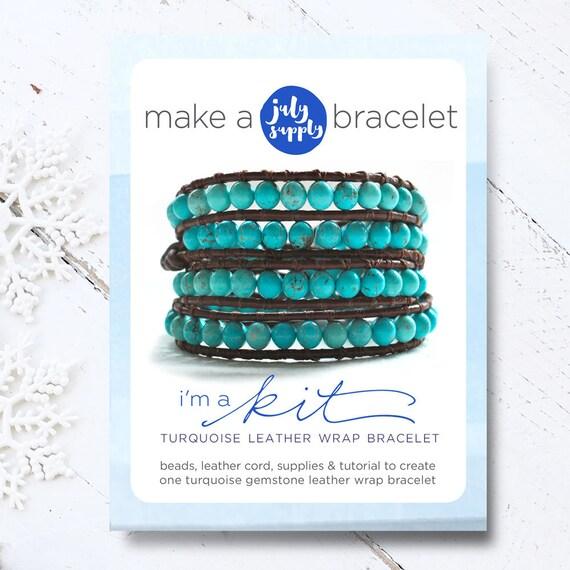 Boho Bracelet Diy Kit Turquoise Bracelet Diy Kit Bracelet Kit Etsy