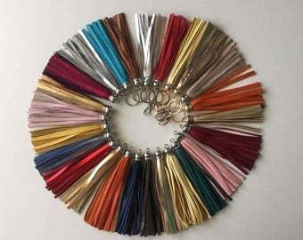 Tassels, Leather tassels , Tassel Keychain , Brilliant metallic tassels, Accessories, Zipper charms
