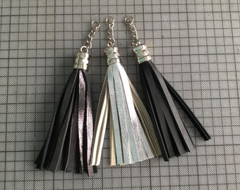 Tassels, Leather tassels , Tassel Keychain , Brilliant metallic tassels, Accessories, Zipper charms