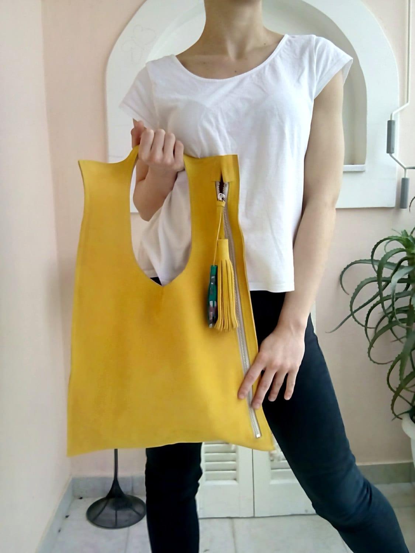 f00f3622ce ... Yellow leather bag/ Modern bag/ Women's handbag. gallery photo ...