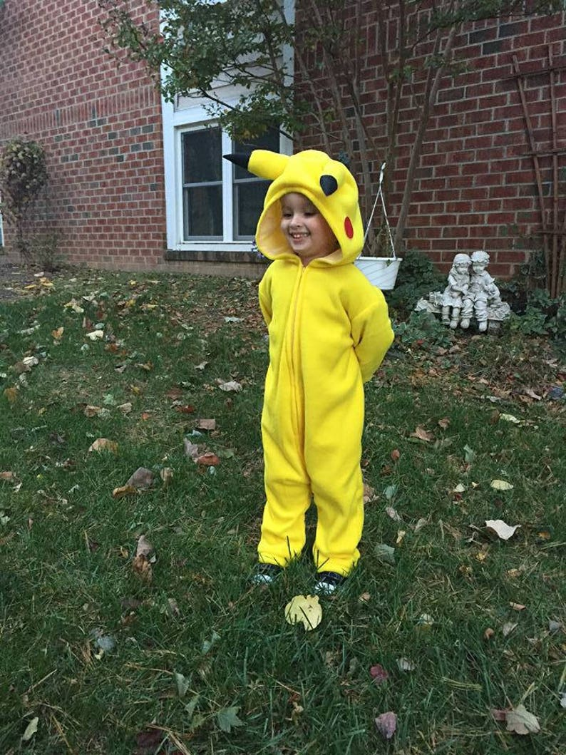 9a503ac1 Child's Pikachu inspired costume size 3T & 4T ORDER | Etsy