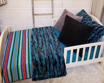 Toddler Bedding - Fiesta Serape and Riviera Minky