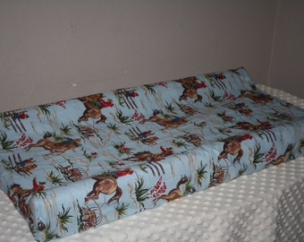 2 Day Ship -Changing Pad Cover - Barn Dandy Cowboy Contour Changing Pad Cover